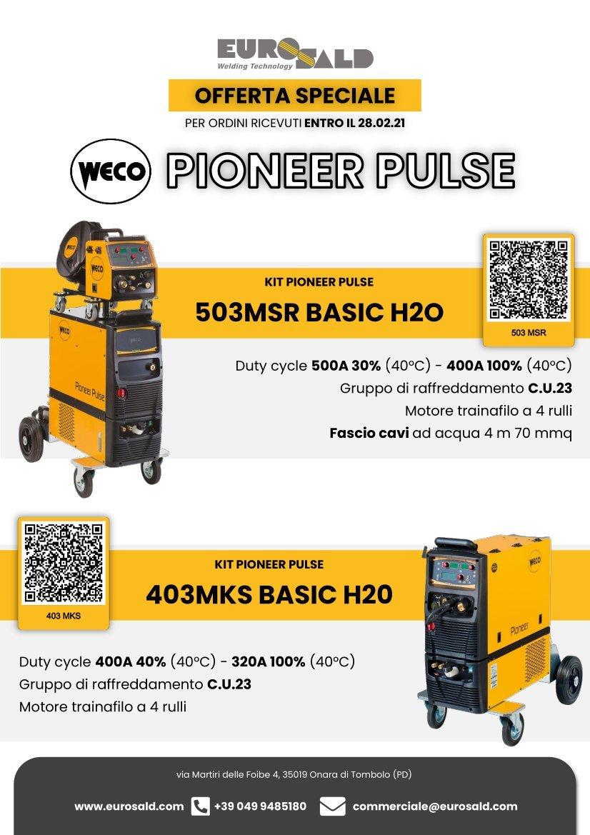 Eurosald Offerta Weco Saldatrici Pioneer Pulse